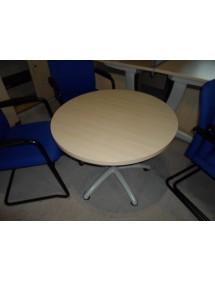 Okrúhly stolík na kolieskach výsuvný