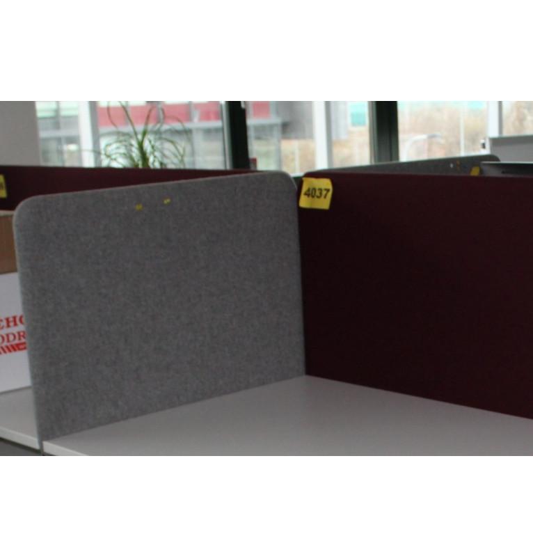Kancelársky paravan na stôl šedý