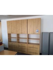 Regálová kancelářská skříň v dekoru hruška