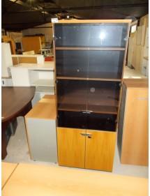 Kancelářská skříň Steelcase sklo + regály