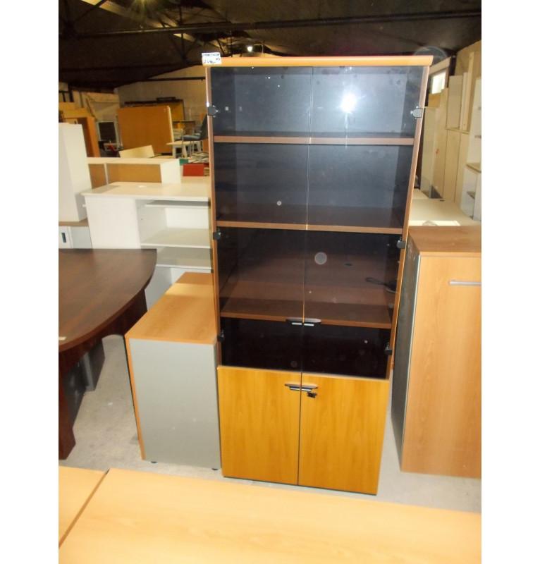 Kancelárska skriňa Steelcase sklo + regály