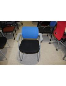 Kancelářská zasedací židle LD - modré opěradlo