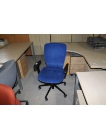 Kancelářské kolečkové židle - modrý semiš