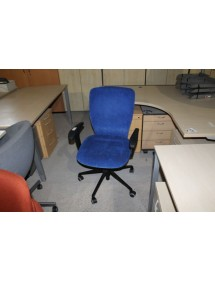 Kancelárske kolieskové stoličky - modrý semiš