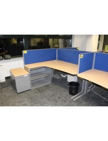 Kancelářské stoly TECHO + element jako noha
