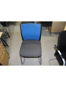 Zasedací kancelářské židle Steelcase šedo modrá