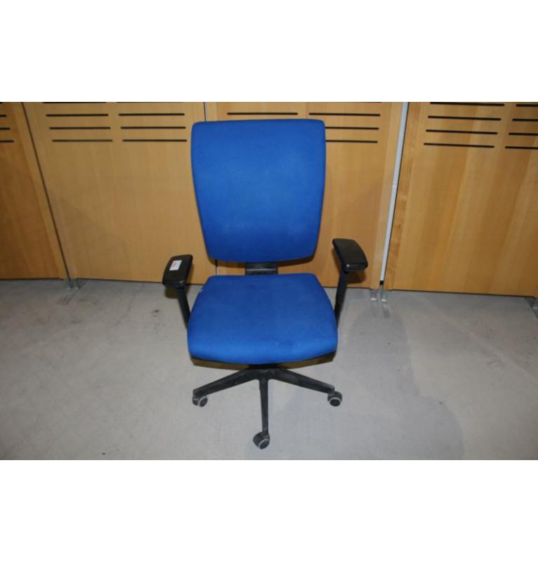 Modrá kancelářská kolečková židle Empire