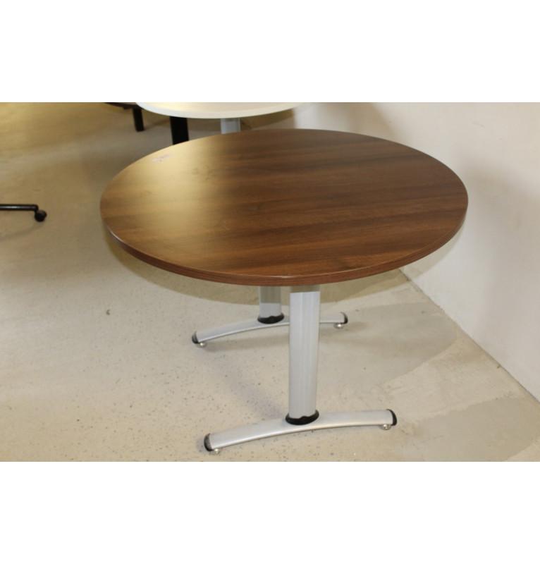 Kulatý stolek v dekoru tmavý ořech