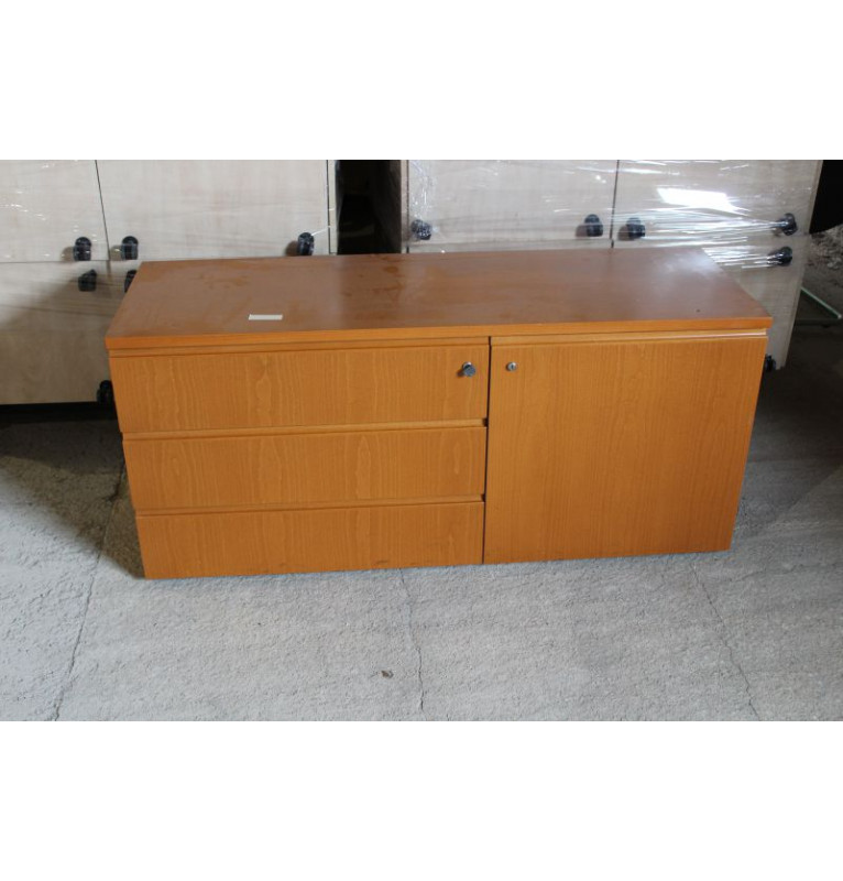 Kombinovaná regálová - šuplíková skříňka BENE