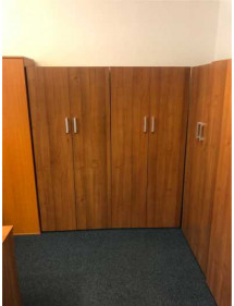 Kancelářské regálové skříně tmavý ořech