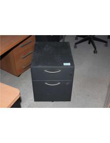 Černé plechové kancelářské kontejnery