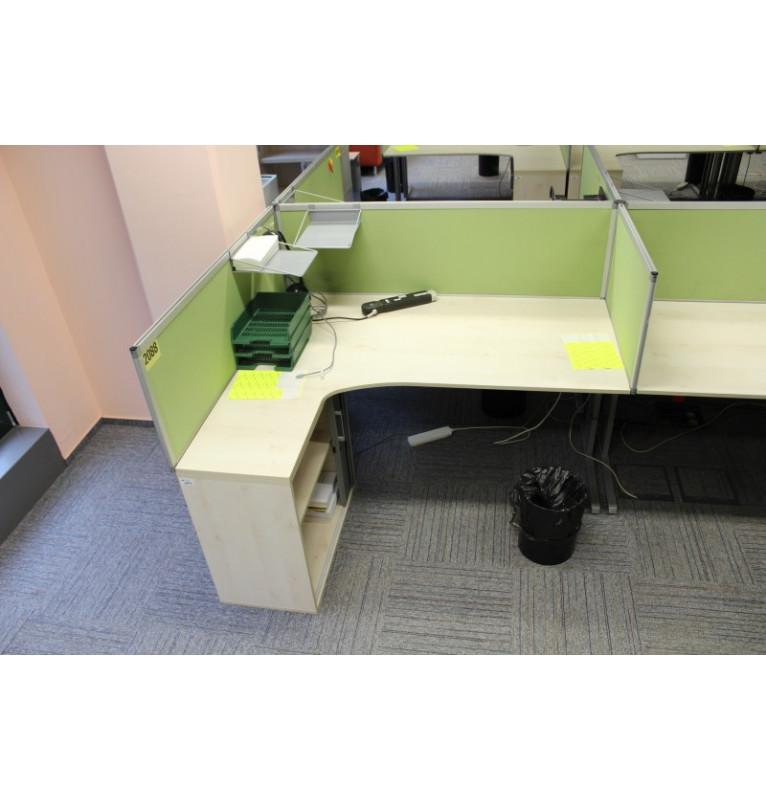 Kancelářské stoly rohové - velice dobrý stav
