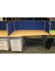 Kancelářské pracovní stoly uspořádání - L/P Techo