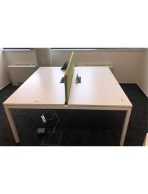 Velké kancelářské stoly v bílé barvě