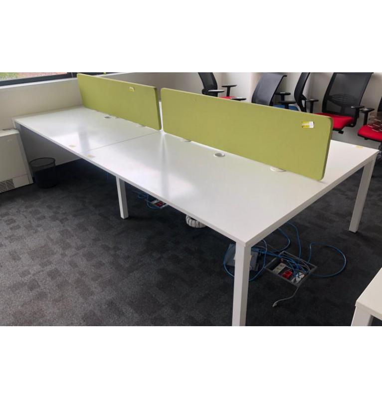 Velký pracovní PC stůl pro 4 osoby
