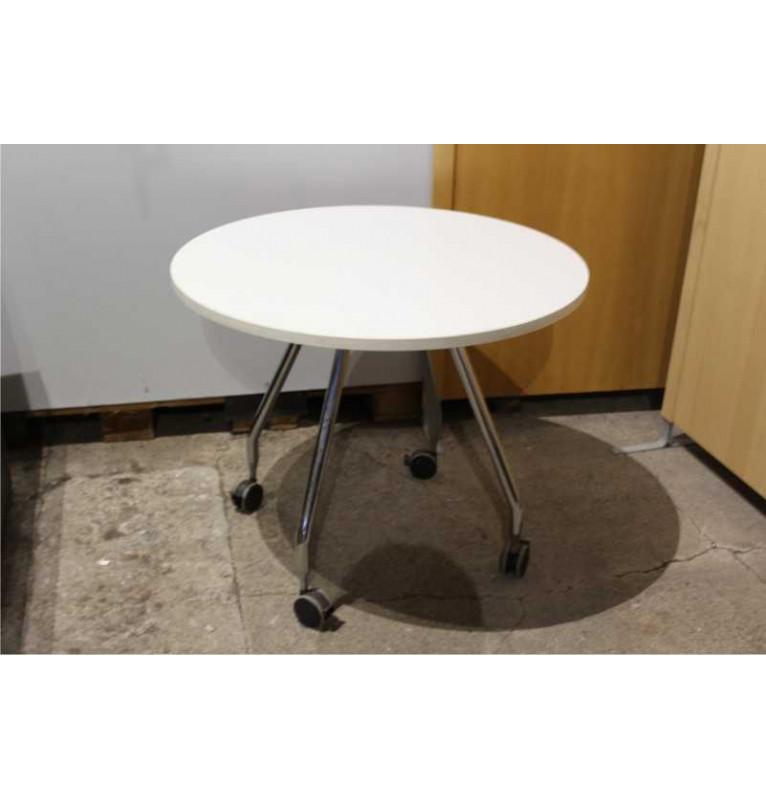 Kancelářský stolek bílý na kolečkách