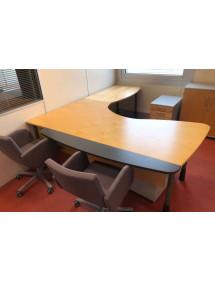 Kancelářský stůl Kinnarps s nástavcem