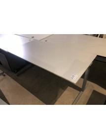 Kancelářský PC stůl TECHO šedý dekor