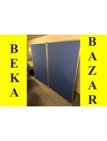 Kancelársky paravan dvojdielny modrý