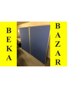Kancelářský paravan dvoudílný modrý
