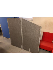 Kancelářský  Paravan dvoudílný šedý