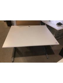 Kancelársky PC stôl Techo sivý