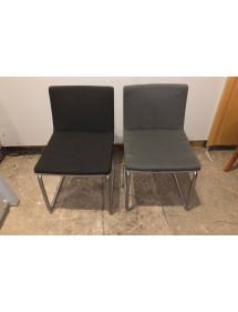 Kancelářská pérová židle šedá a černá