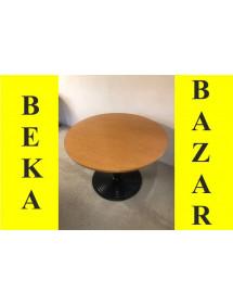 Kancelársky prísediaci guľatý stolík - Tmavý buk