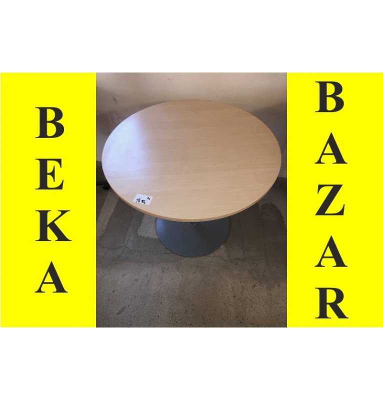 Kancelářský přísedící kulatý stůl světlý