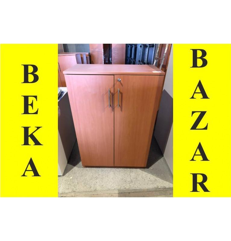 Kancelářská skříň střední - dekor hnědá hruška