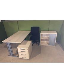 Kancelářská sestava nábytku - světlý dekor
