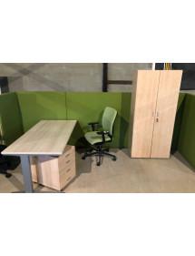 Zostava kancelárskeho nábytku svetlý dekor