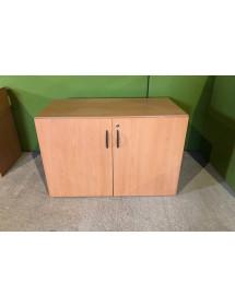 Kancelářská skříň nízká,hluboká - dekor buk