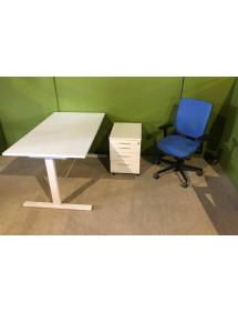 Kancelárska zostava biela skladajúca sa z 3 ks