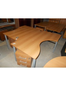 Kancelársky stôl pracovný v dekore slivka
