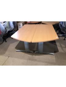 Kancelársky PC stôl Steelcase sa zaoblením