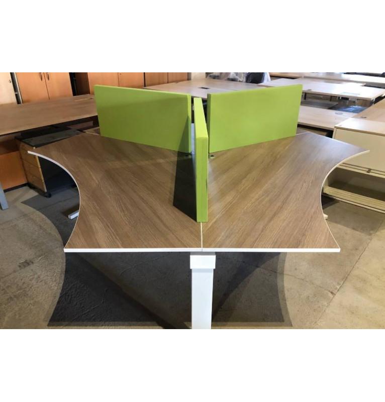 Kancelářská 3 dílná souprava stolů značky TECHO