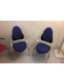 Přísedící kancelářská židle Cazzaro - modrá