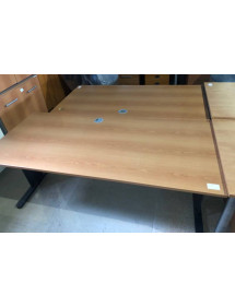 Kancelársky PC stôl rovný dekor hnedá hruška