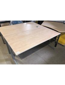 Kancelársky PC stôl Techo - dekor hruška (biela hrana)