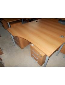kancelársky stôl skosený dekor slivka