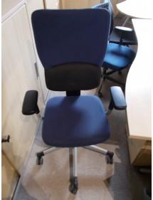 Koliesková stolička Steelcase modrá